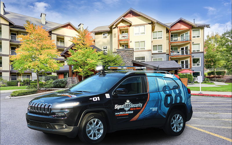 A residential complex using Signal 88 mobile patrol services for their neighborhood security watch